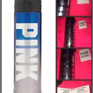 Pink VS Blue ombré gray thermos NWT